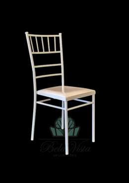 Cadeira de Ferro Empilhável Slim Tiffany Branca