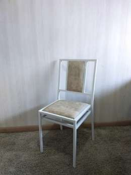 Cadeira Ferro Semi Almofadada