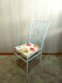 Cadeiras Ferro Slim Estampada