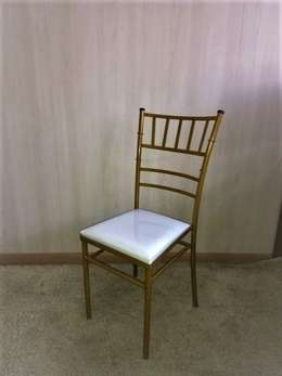 Tiffany Dourado Ouro Assento Branco