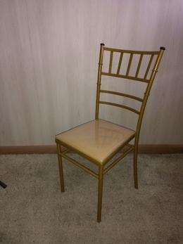 Cadeira de Ferro Tiffany Slim Dourado Ouro