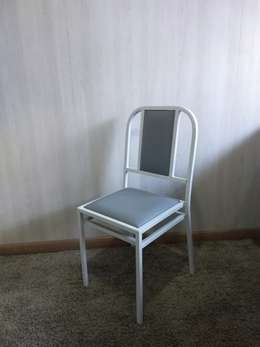 Cadeira Paris Branca e Cinza