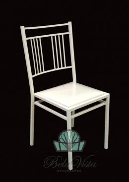 Cadeira de Ferro Empilhavel Madri Branca