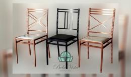 Cadeira de Ferro Empilhavel 3D